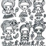 desenho de frida kahlo para pintar