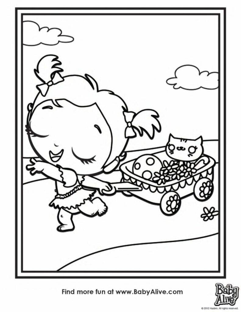 Desenhos Da Baby Alive Para Colorir 01 Criando Com Apego