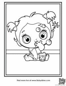 desenhos da baby alive para colorir