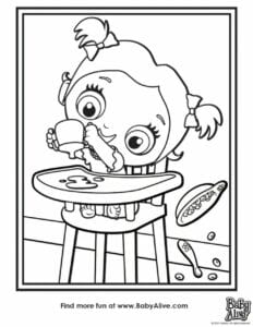 desenhos da baby alive para pintar e imprimir