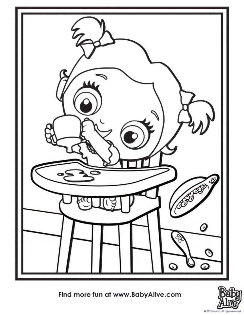 Desenhos Da Baby Alive Para Pintar E Imprimir Criando Com Apego