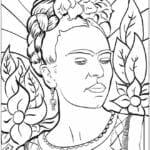 desenhos de frida kahlo para colorir e pintar