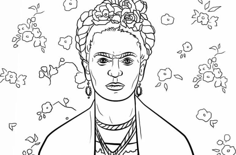 desenhos-de-frida-kahlo-para-colorir,-pintar-e-imprimir