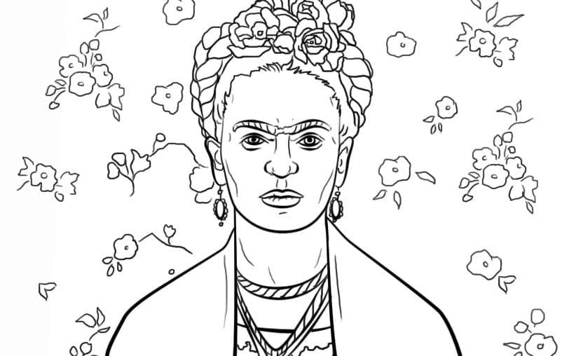 Frida Kahlo Para Dibujar: Desenhos De Frida Kahlo Para Colorir, Pintar E Imprimir