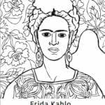 desenhos de frida kahlo para colorir, pintar e imprimir