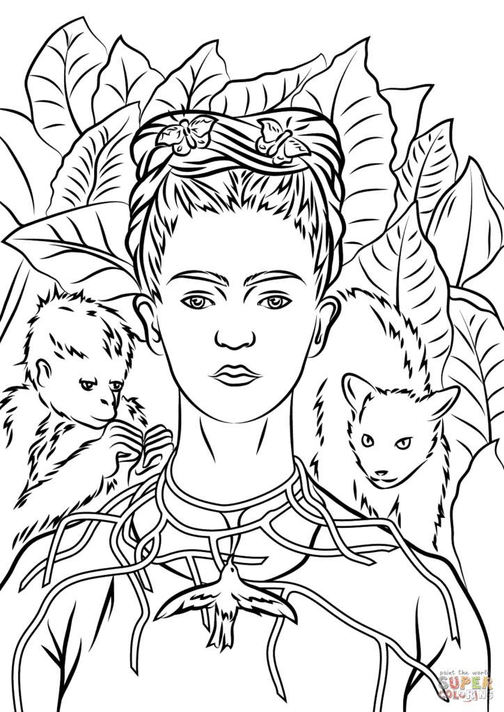 desenhos de frida kahlo para imprimir