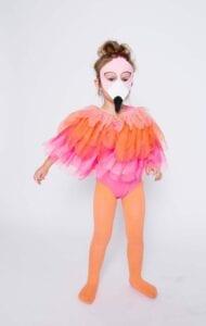 Fantasia de flamingo para criança
