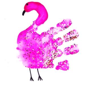 Flamingo - Arte com as mãos