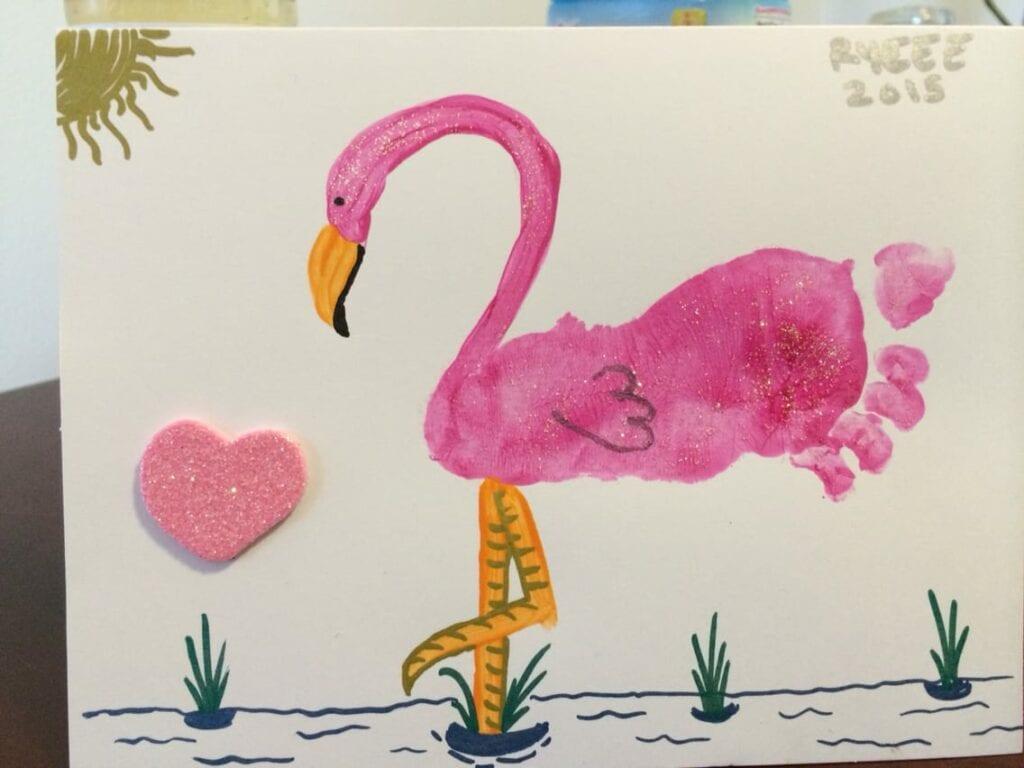 Flamingo - Arte com os pés