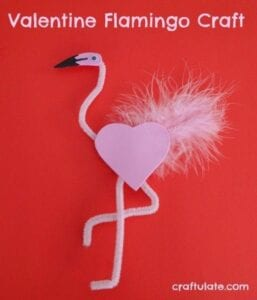 Flamingo feito com coração
