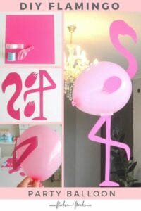 Flamingo feito com bola de soprar