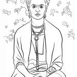frida kahlo desenhos para colorir