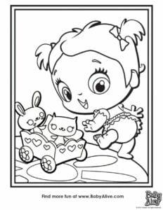 imagens da baby alive para colorir