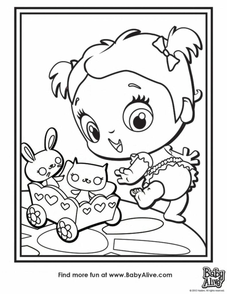 Imagens Da Baby Alive Para Colorir Criando Com Apego