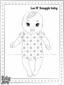 imprimir e pintar baby alive