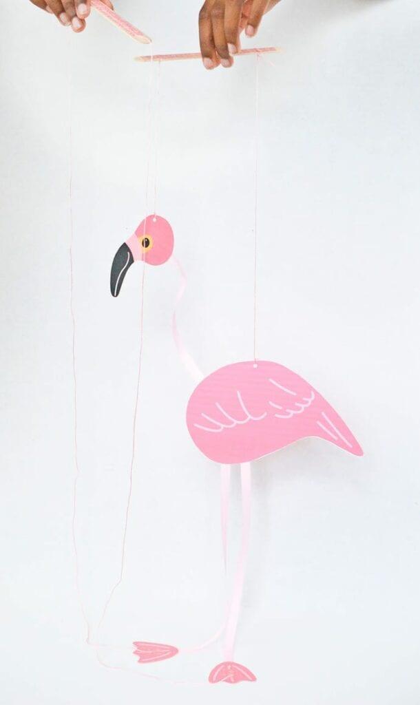 Marionete flamingo