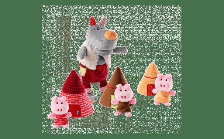 o lobo e os tres porquinhos lilliputiens fantoche 01