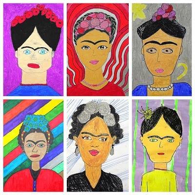 pintar autorretrato da frida kahlo