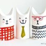 Animais com rolo de papel higiênico - gatinhos