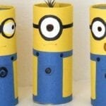 Animais com rolo de papel higiênico - Minions