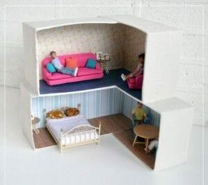 casinha de boneca de papelao 10