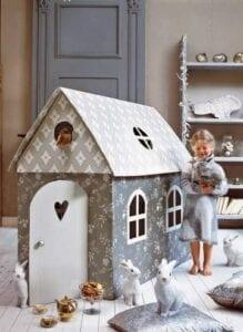 Casinha infantil de papelão