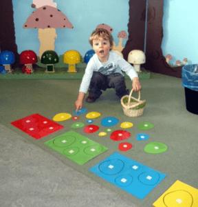Classificando tamanhos, formas e cores