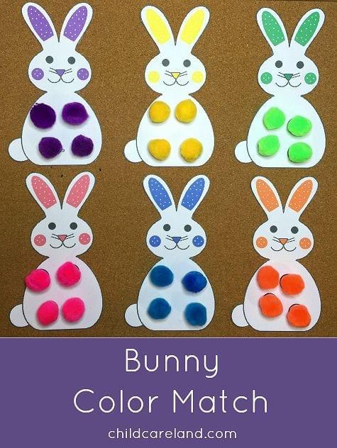 Coelho das cores criando com apego for Easter crafts for elementary students