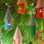 Coisas incríveis com rolo de papel higiênico - Enfeites de árvore
