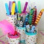 Coisas incríveis com rolo de papel higiênico - Porta-lápis