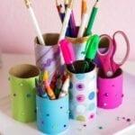 Coisas incríveis com rolo de papel higiênico - material escolar