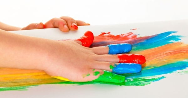 como fazer pintura de dedos caseira