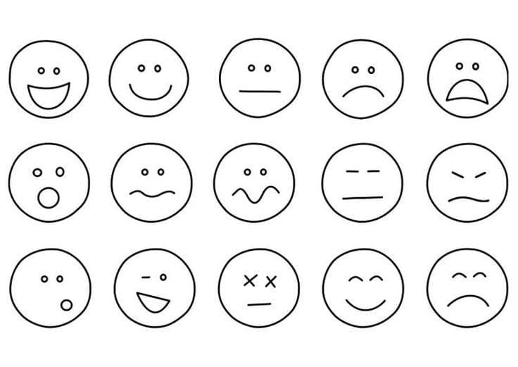 Desenhos Das Emoções Para Colorir E Pintar