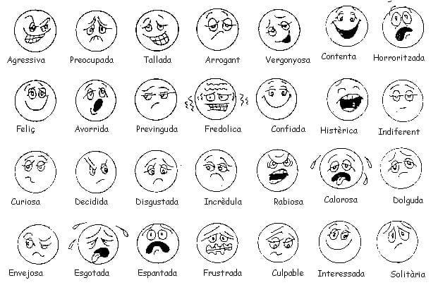 Desenhos Das Emocoes Para Imprimir Criando Com Apego