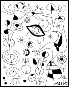 desenhos do miro para colorir e imprimir