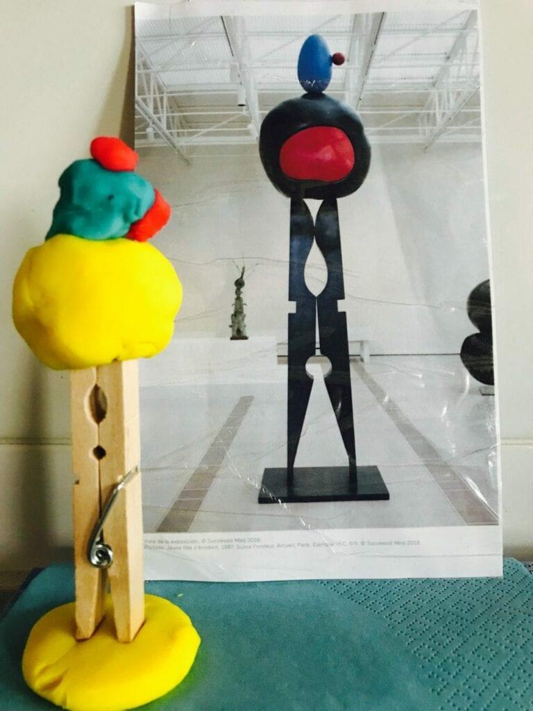 Escultura Joan Miró - Projeto de Artes