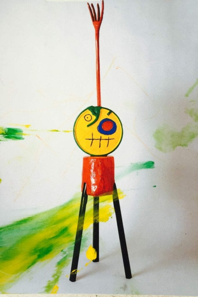 interpretando miro escultura pintura 13