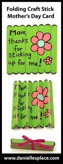 mensagem dia das maes em palitos de picole
