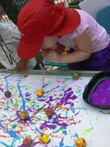 Pintando com sopro