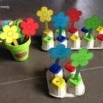Palitos de flores coloridos