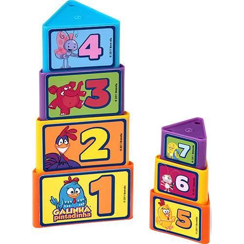 torre de triangulos galinha pintadinha