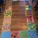 Tapete de atividades sensoriais no estilo Montessori 03