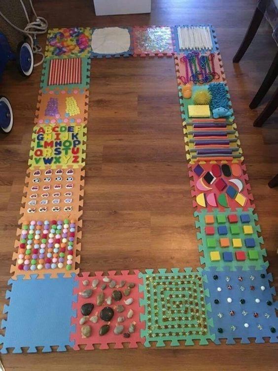 Tapete De Atividades Sensoriais No Estilo Montessori