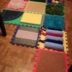 Tapete de atividades sensoriais no estilo Montessori 04