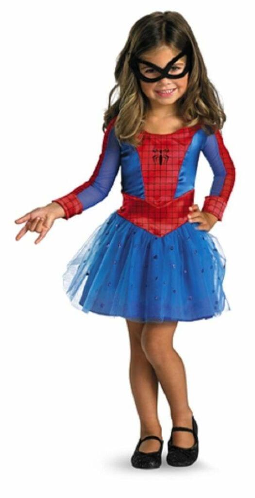 fantasia de homem aranha menina