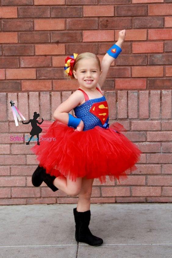 fantasia superman menina