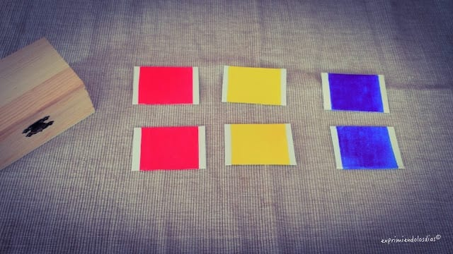 jogos de aprendizagem caixa de cores montessori