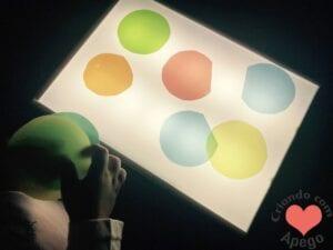 mesa de luz para criancas