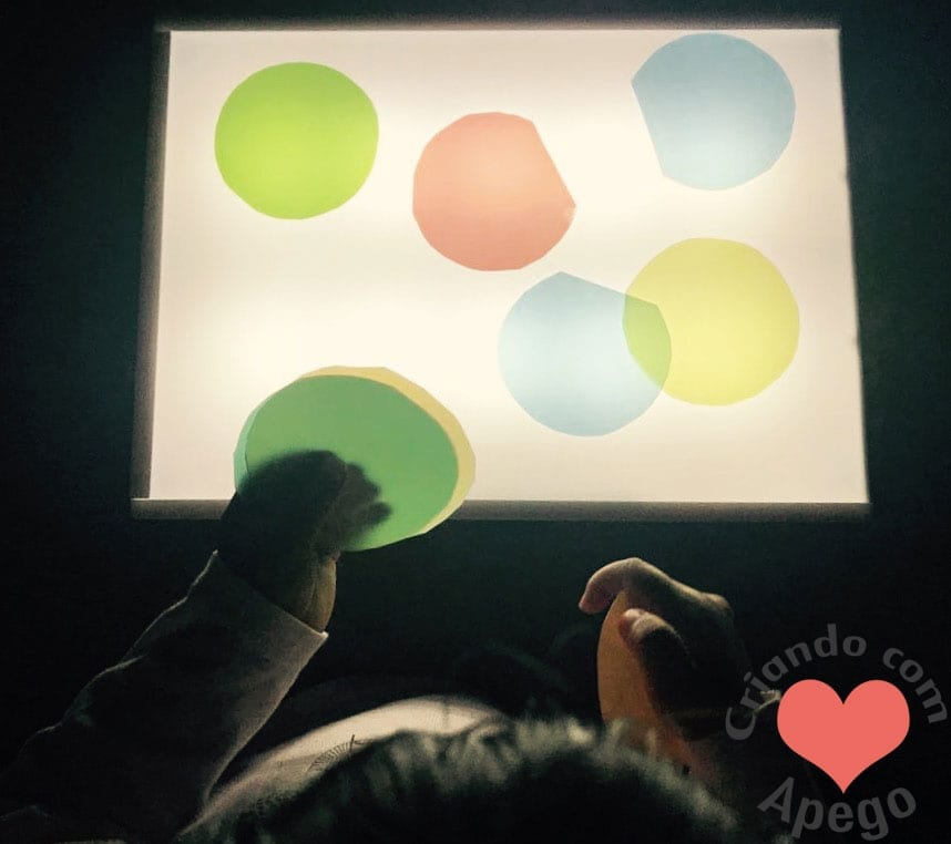 mesa de luz sensorial