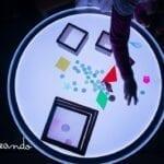mesa luminica para criancas